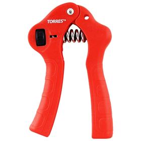 Эспандер кистевой TORRES PL5073, металлическая пружина, чёрный/красный