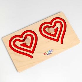 Межполушарная доска «Сердце», красная