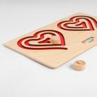 Межполушарная доска «Сердце», красная - фото 105590602