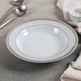 """Тарелка глубокая 22,5 см """"Платина"""""""