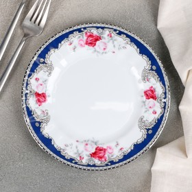 Тарелка десертная «Роза вензель», d=19 см