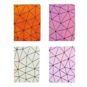 Записная книжка подарочная формат А6, 80 листов, линия, блок 70г, обложка ЛАЙТ Голография