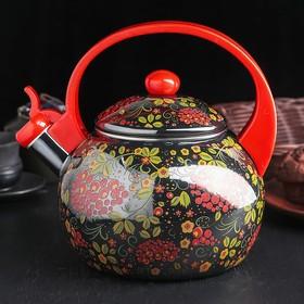 Чайник эмалированный со свистком «Чудесница.Русский узор», 2,5 л
