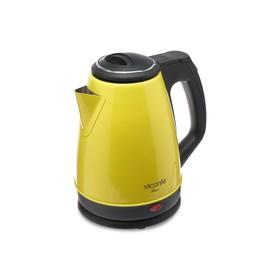 Чайник электрический Viconte VC-3281, металл, 1.8 л, 2000 Вт, жёлтый