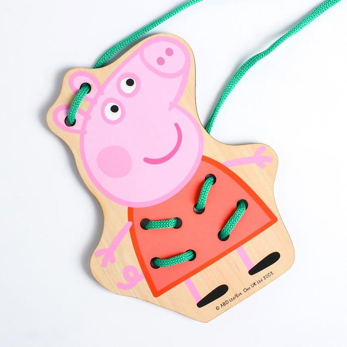 Шнуровка «Свинка Пеппа» 16×12.3×0,3см, по лицензии СВИНКА ПЕППА