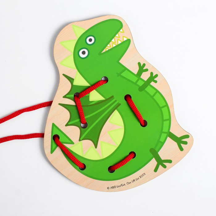 Шнуровка «Динозавр» 15.8×13.1×0.3 см, по лицензии СВИНКА ПЕППА
