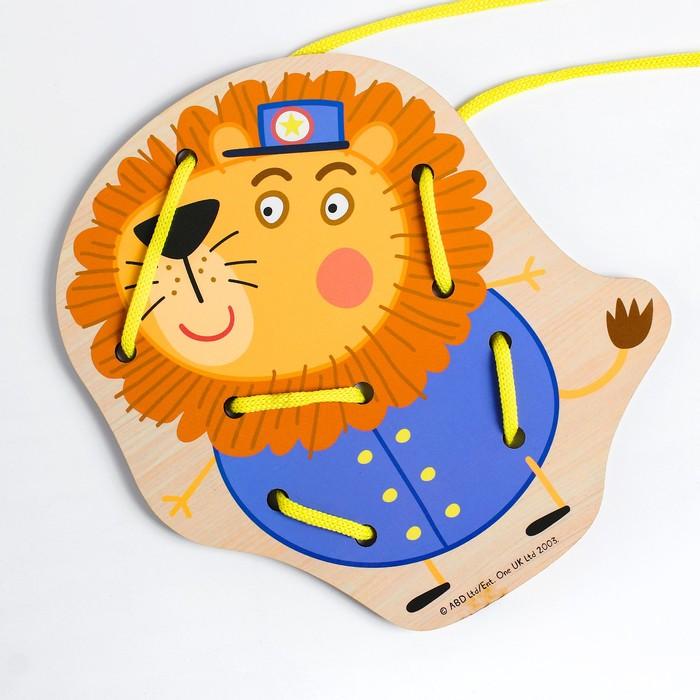 Шнуровка «Мистер Лев» 16.2×15×0.3 см, по лицензии СВИНКА ПЕППА