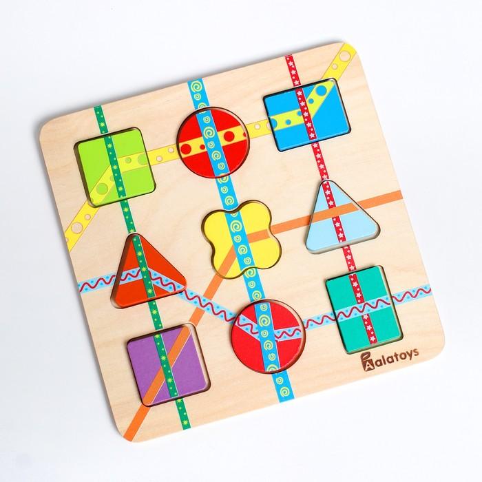Пазл «Линии» 18×18×1.5 см