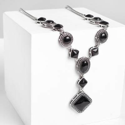 "Pendant Vostok ""black agate"" diamond in a frame"