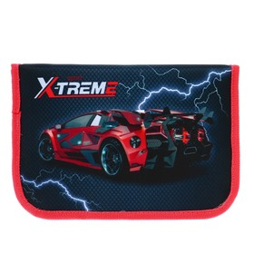 """Pencil case 1 section flap pocket and COSM 140*210 fabric Big Daddy's Smart Content """"Sports extreme"""