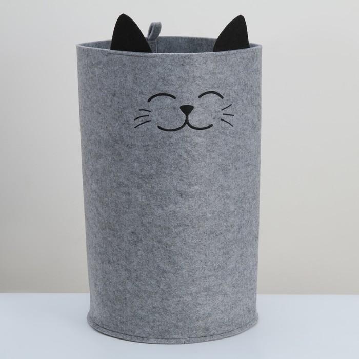 Органайзер для хранения Funny «Котик», цвет серый