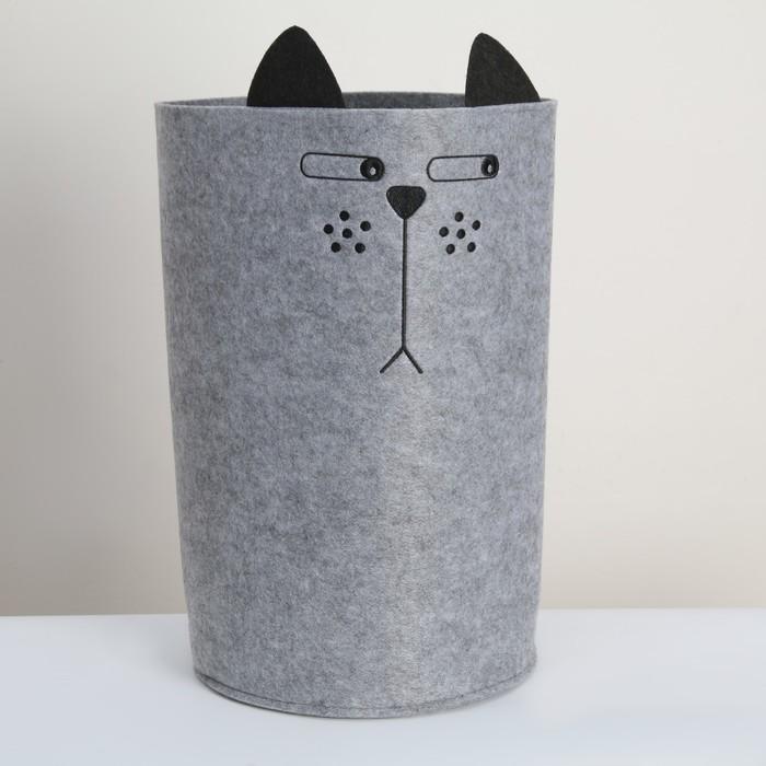 Органайзер для хранения Funny «Котяра», цвет серый