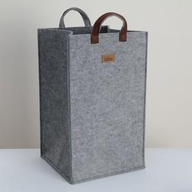 Корзина для хранения Eva Elegance, 30×30×50 см, цвет серый
