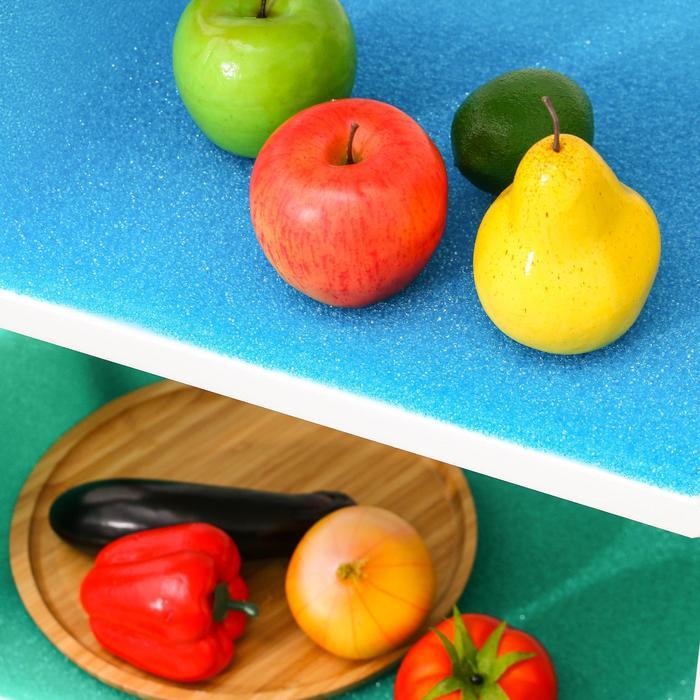 Коврик для холодильника, 32×50 см, цвет зелёный