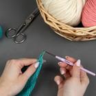 Crochet hook steel plastic handle 13,5 cm d2,5mm (FAS 10pcs price per unit) MIX SE