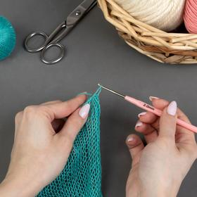 Крючок для вязания, d = 2 мм, 13,5 см, цвет МИКС Ош