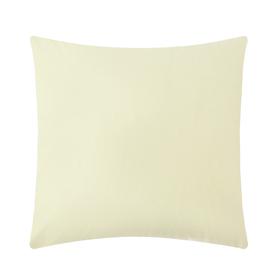 """Pillow case """"Ethel"""", size 70x70 cm, color yellow, 100% cotton, percale"""