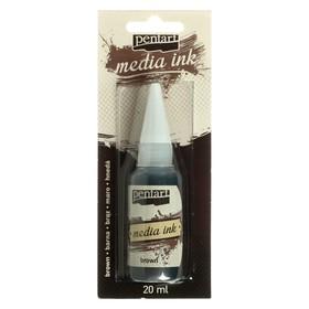 Красящие чернила 20 мл, Pentart, спиртовая основа, коричневый