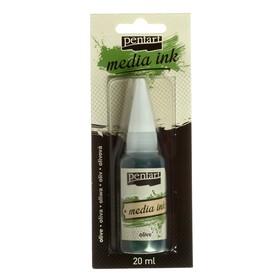 Красящие чернила 20 мл, Pentart, спиртовая основа, оливковый