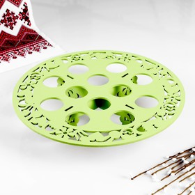 Stand for eggs 12 PCs., 26х26х5 cm, light green