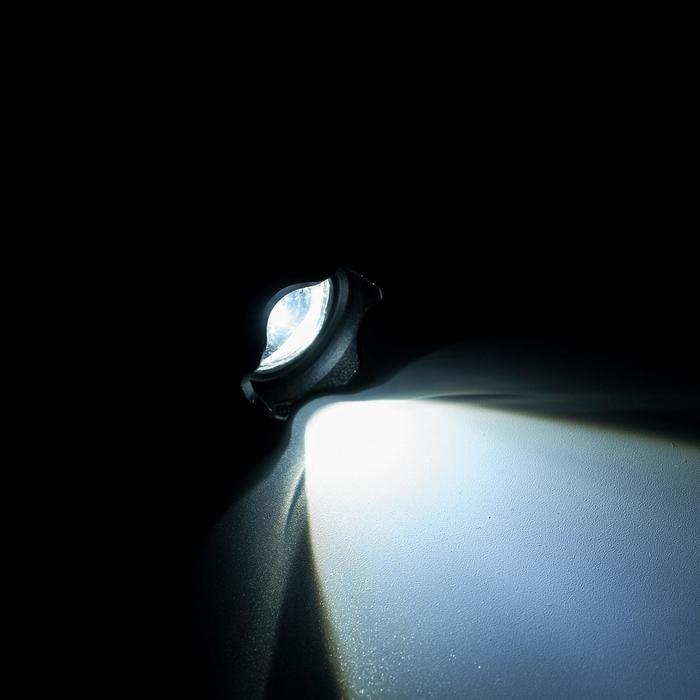 """Фонарик """"Дозор"""", 1 LED, черный ребристый рассеиватель, зеленое кольцо zoom"""