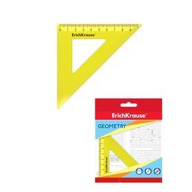 "Треугольник 45°/9 см ErichKrause ""Neon"" желтый, в флоупаке"