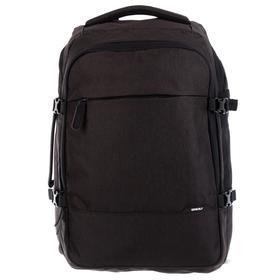 Рюкзак молодёжный с эргономичной спинкой Grizzly, 45 х 32 х 21, для мальчиков, чёрный