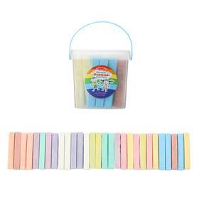 Мелки цветные для асфальта 29 штук, 10 цветов «Фантазия», брусок