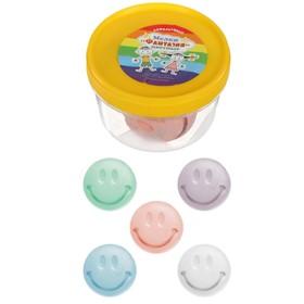 Мелки цветные для асфальта 5 штук «Фантазия», форме улыбки