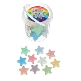 Мелки цветные для асфальта 10 штук «Фантазия», в форме звёздочки