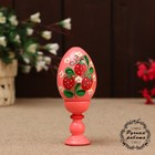 Souvenir Egg, on a stand 10 cm, hand painted, mix