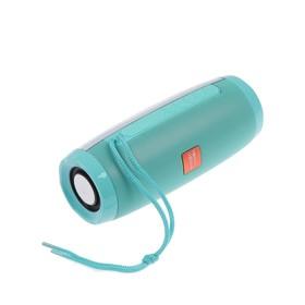 Портативная колонка SK1012GN, microSD/USB, Bluetooth 5.0, 10 Вт, 1200 мАч, зеленая