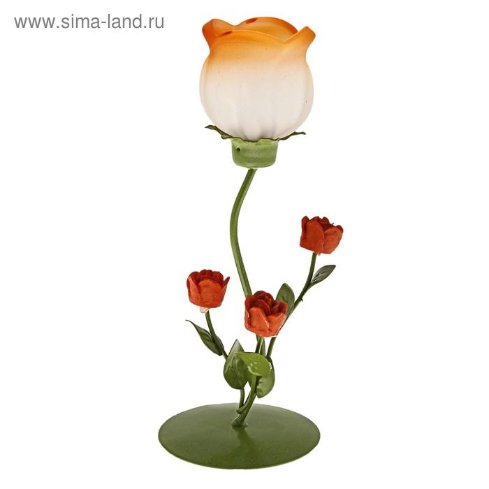 """Подсвечник """"Букет роз"""""""