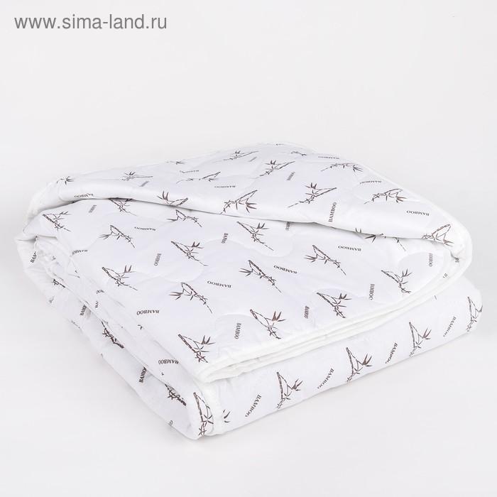 "Одеяло всесезонное Адамас ""Бамбук"", размер 140х205 ± 5 см, 300гр/м2, чехол тик, цвет микс"
