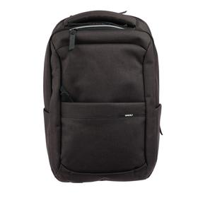 Рюкзак молодёжный с эргономичной спинкой Grizzly, 44 х 30 х 18, чёрный