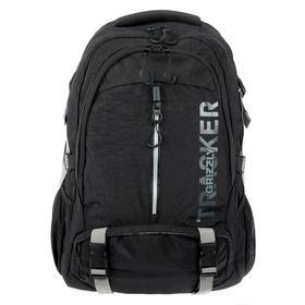 Рюкзак молодёжный с эргономичной спинкой Grizzly, 53 х 32 х 21, чёрный