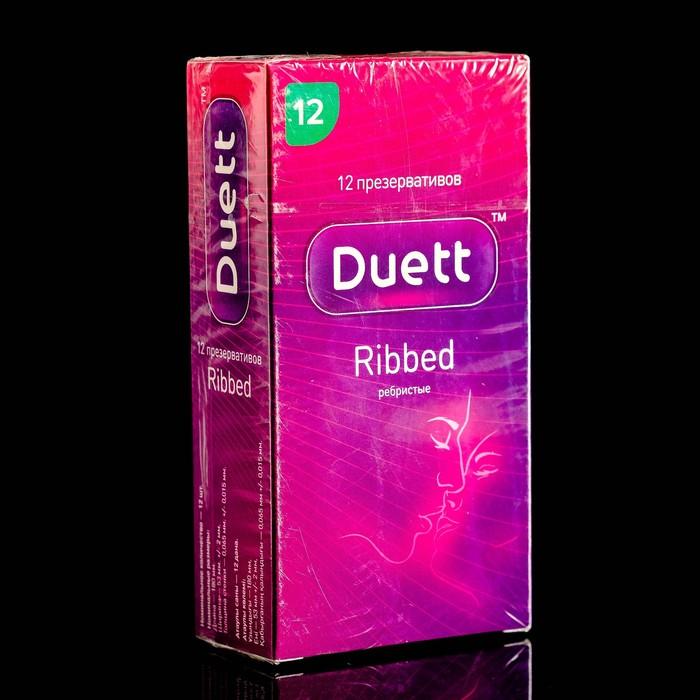 Презервативы DUETT ribbed 12 шт