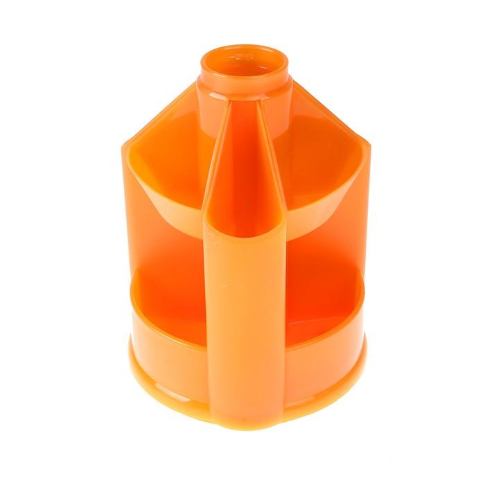 Настольная подставка-органайзер Mini Desk вращающийся, без наполнения, тонированный оранжевый Манго