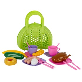 Игровой набор «Завтрак путешественника», в сумке, 21 предмет, МИКС