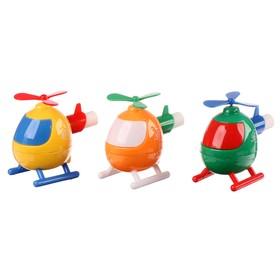 Точилка 1 отверстие с контейнером «Вертолетик» с ластиком, 3 цвета