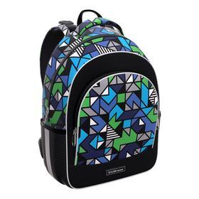 Рюкзак школьный с эргономичной спнкой Erich Krause ErgoLine 15L , 39 х 28 х 14, для мальчика 15L Geometry, чёрный