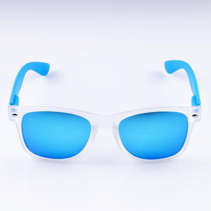 """Очки солнцезащитные """"Бель-Мар"""", пружинные дужки, uv400, 14х15х5 см, линза 5х5.5 см, голубые   470360"""