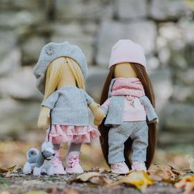 Интерьерные куклы «Подружки Вики и Ники- на прогулку» набор для шитья, 15,6 × 22.4 × 5.2 см    47167