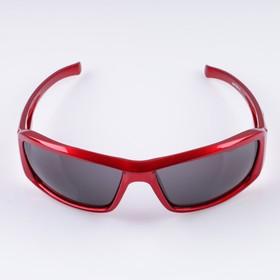 Очки солнцезащитные спортивные 'Луи', малиновые,  uv 400, 11.5х13х4.5 см, линза 4.5х6 см Ош