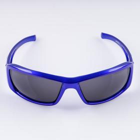 """Очки солнцезащитные спортивные """"Луи"""", синие,   uv 400, 11.5х13х4.5 см, линза 4.5х6 см"""