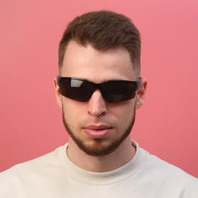 Очки солнцезащитные, велосипедные 'Хадд', uv 400, 11.5х13х4 см, линза 4х7 см, коричневая Ош