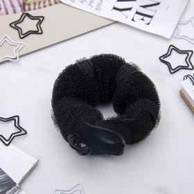 Валик для волос с кнопкой и резинкой, чёрный Ош