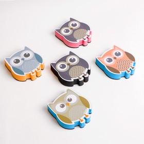 "The magnetic sponge for marcaroni Board ""Owl"" 2x8,5x9,5 cm"