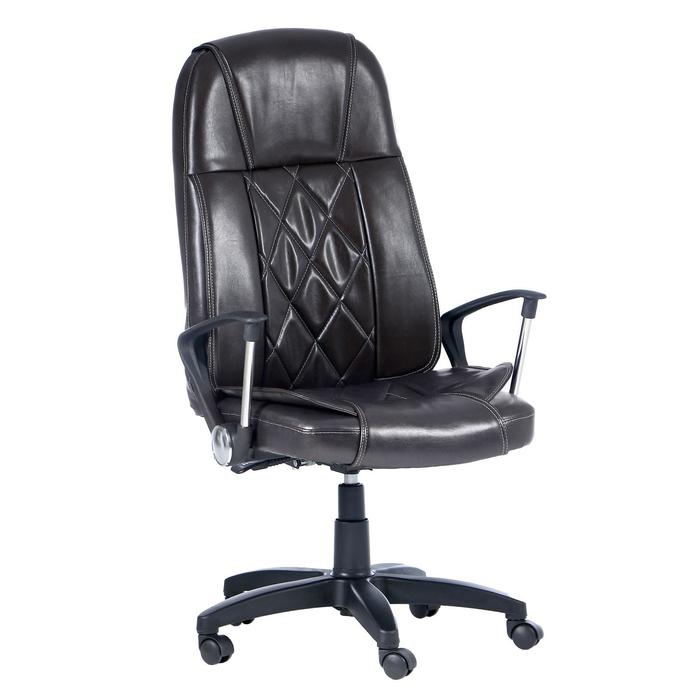 """Кресло руководителя """"Премьер"""", экокожа, коричневое МК-017"""
