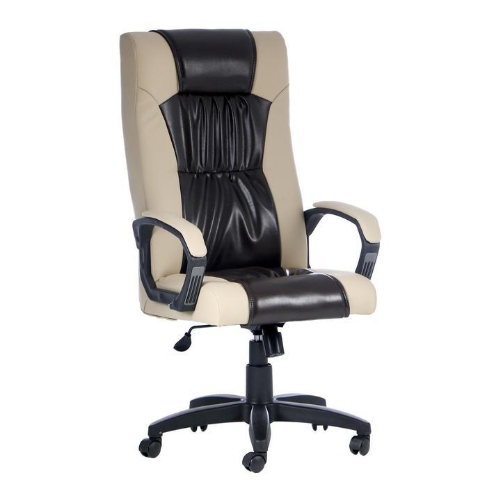 """Кресло руководителя """"Оксфорд"""", экокожа, бежевое МК-055"""